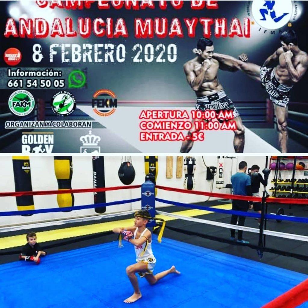 Miguel Pérez a por las medallas del Campeonato de Andalucía de Muay Thai
