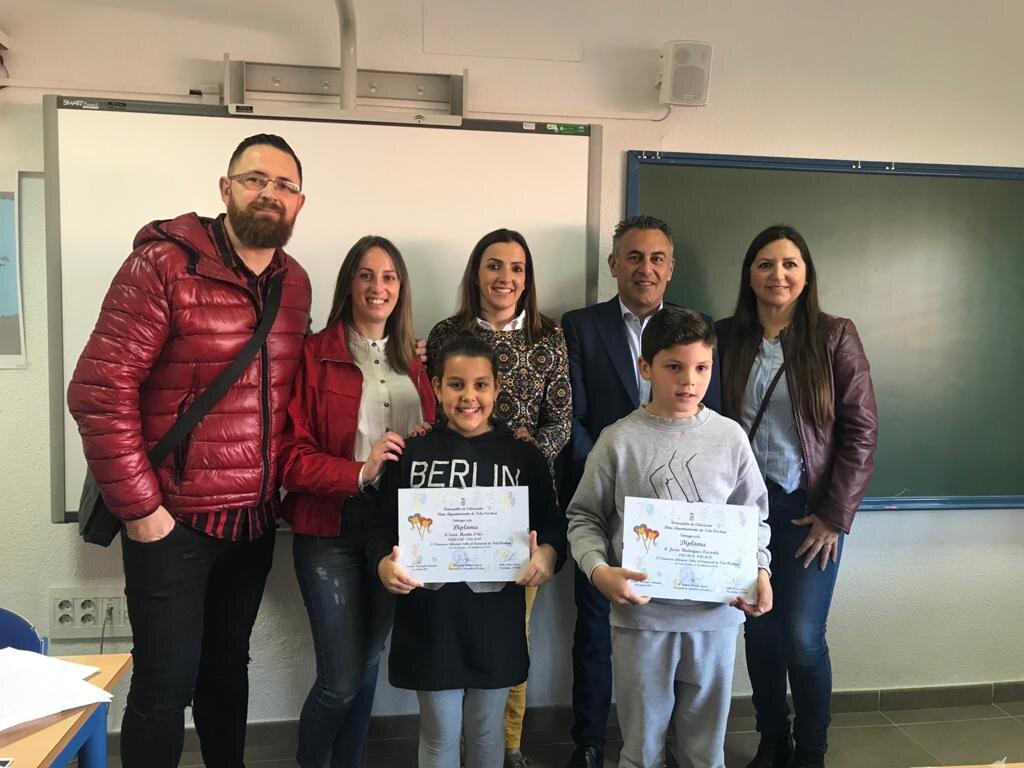 Dos alumnos del CEIP Reina María Cristina ganan el II Concurso Escolar de Relatos de Carnaval