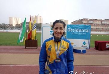 Inés Sequera en el Campeonato de Andalucía de Lanzamientos Largos de Invierno