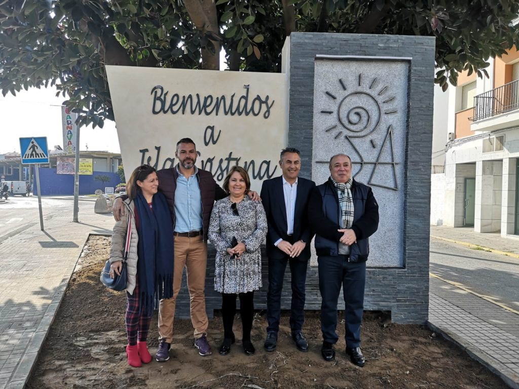 Inaugurado el Monolito que dará la bienvenida a turistas y visitantes a Isla Cristina