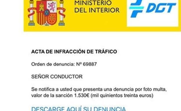 La DGT advierte de esta falsa multa que está llegando a muchos conductores