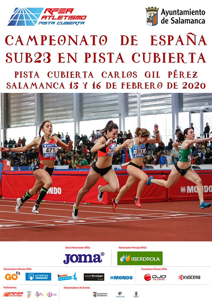 Los atletas isleños Raúl Camacho y Alba Pérez en el Nacional Indoor Sub 23