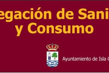 Comunicado Delegación de Sanidad y Consumo de Isla Cristina