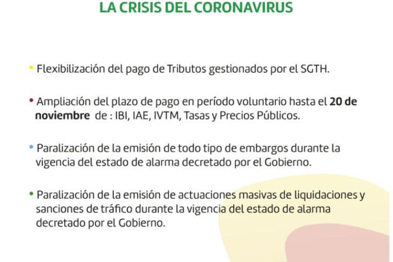 El SGTH decreta flexibilizar el pago de tributos y aplazar embargos para paliar la crisis del Coronavirus