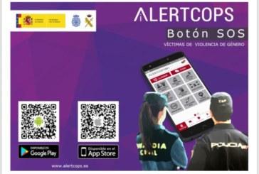 El boton SOS en la App ALERTCOPS