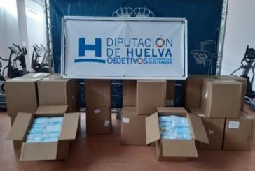 Diputación reparte a los ayuntamientos un segundo lote de 100.000 mascarillas quirúrgicas homologadas