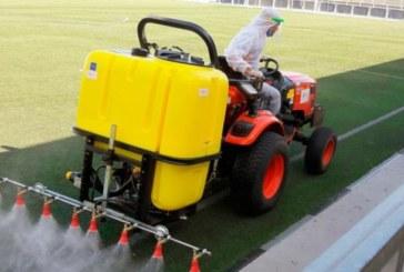 Desinfección por parte de la RFAF de los campos de fútbol de Isla Cristina