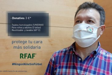 La RFAF lanza sus mascarillas higiénicas con fines solidarios