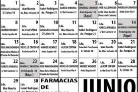 Farmacias de Guardia en Isla Cristina para el mes de JUNIO 2020