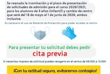 Abren los colegios de Isla Cristina para el proceso de escolarización