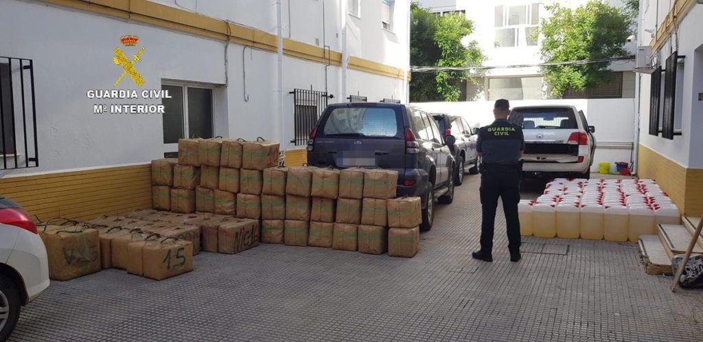 Incautados 1.800 kilos de hachís en Isla Cristina
