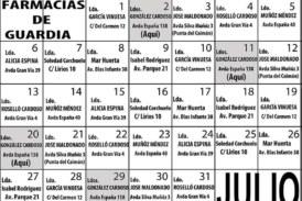 Farmacias de Guardia en Isla Cristina para el mes de Julio 2020
