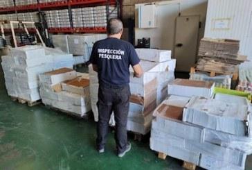 Inspección Pesquera incauta más de 16 toneladas de productos en la provincia de Huelva