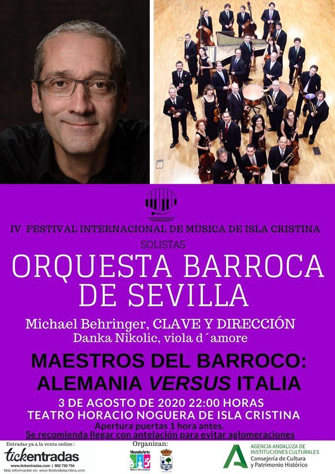 'Maestros del Barroco: Alemania versus Italia' a cargo de los Solistas de la Orquesta Barroca de Sevilla