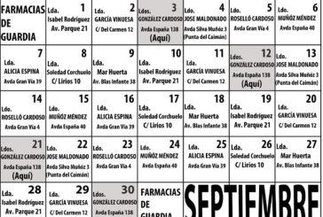 Farmacias de Guardia en Isla Cristina para el mes de Septiembre 2020