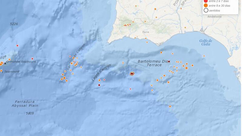 Sismo de magnitude 3,9 registado a pocos quilómetros de Isla Cristina