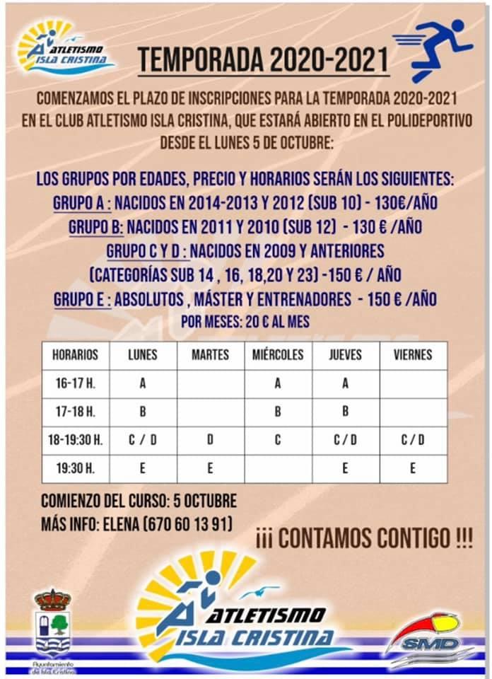 Comienza la temporada del Club Atletismo Isla Cristina.