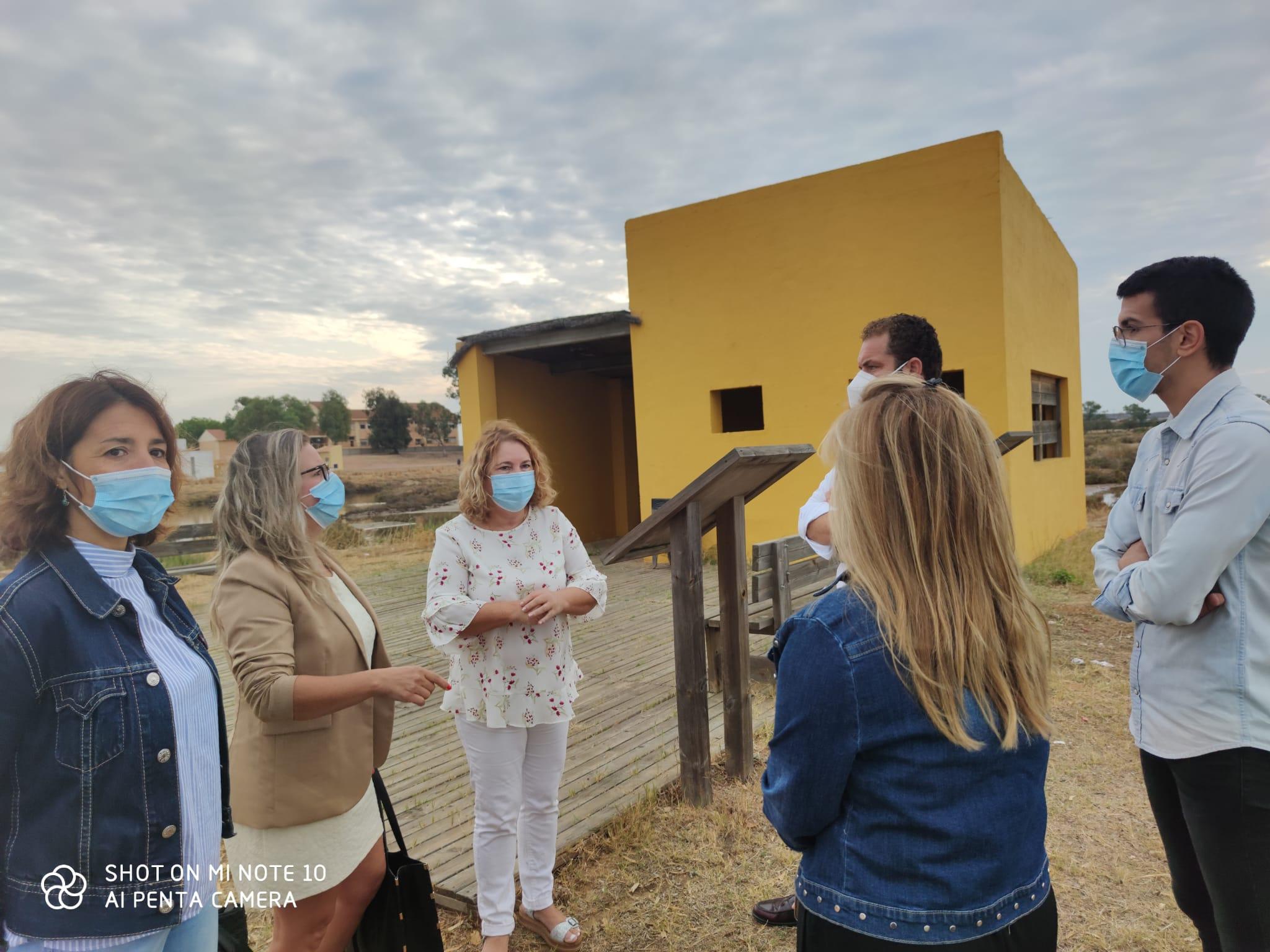 Comienzan las obras de adecentamiento y adecuación de la Ruta Turística y Medioambiental Ornitológica de Isla Cristina