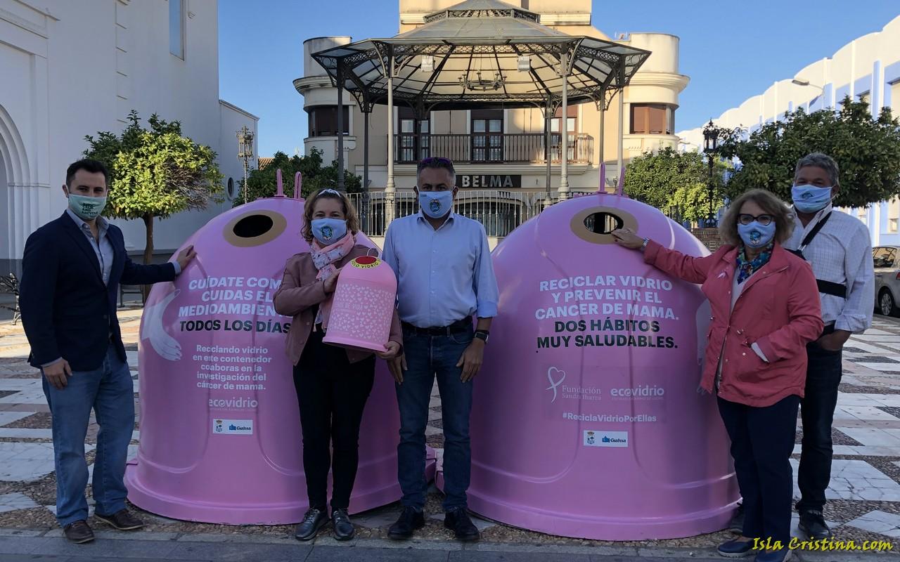 Ecovidrio y el Ayuntamiento de Isla Cristina presentan la campaña solidaria 'Recicla Vidrio por ellas' con motivo del Día Mundial del Cáncer de Mama