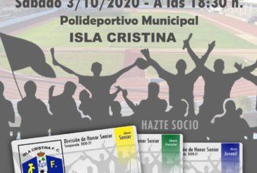 El Isla Cristina se presenta este sábado ante su afición