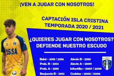 Captación de jugadores para la cantera del Isla Cristina FC