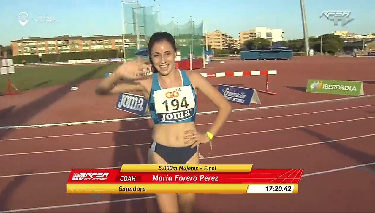 María Forero Campeona de España Juvenil