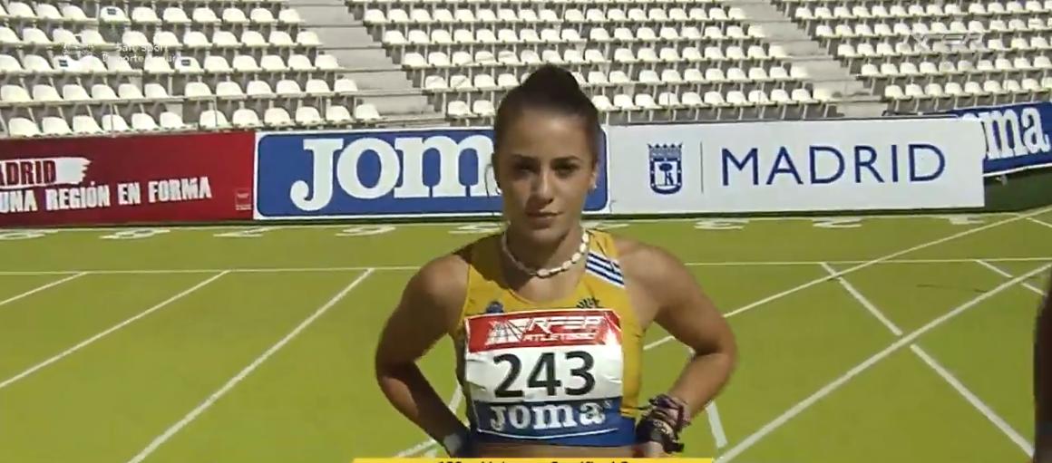 Eva Cárdenas, finalista en los 100m en el Campeonato de España Sub 20