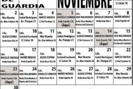Farmacias de Guardia en Isla Cristina para el mes de Noviembre 2020