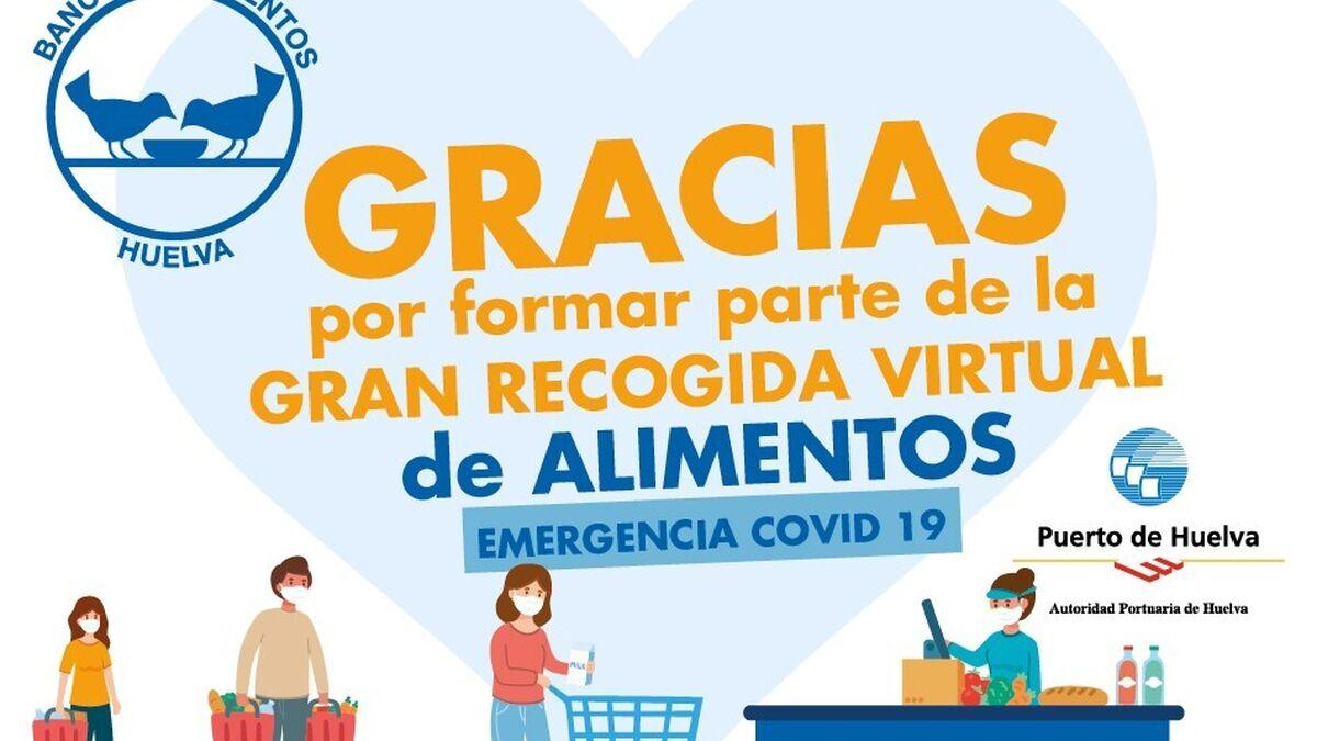 El Banco de Alimentos de Huelva inicia la Gran Recogida en 198 supermercados de la provincia y a través de su web