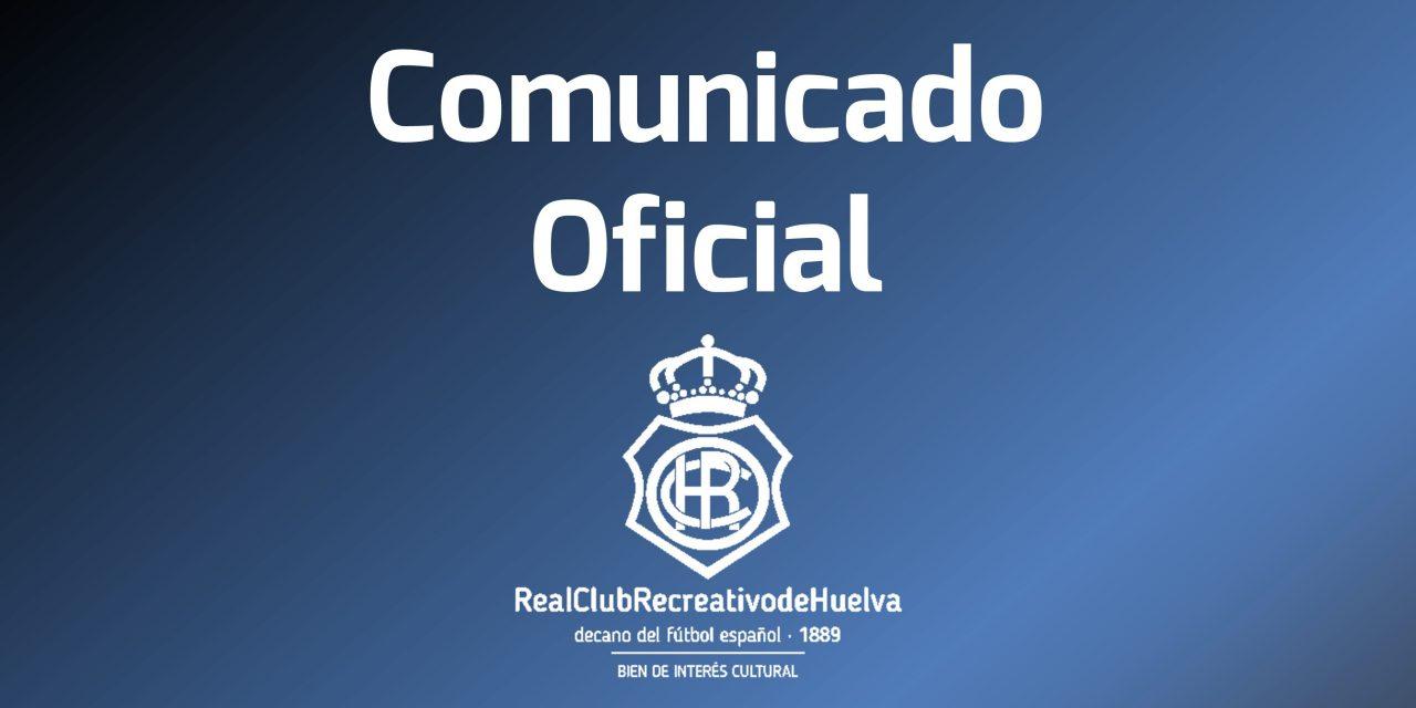 Comunicado Real Club Recreativo de Huelva sobre la Placa inaugurada en Sevilla