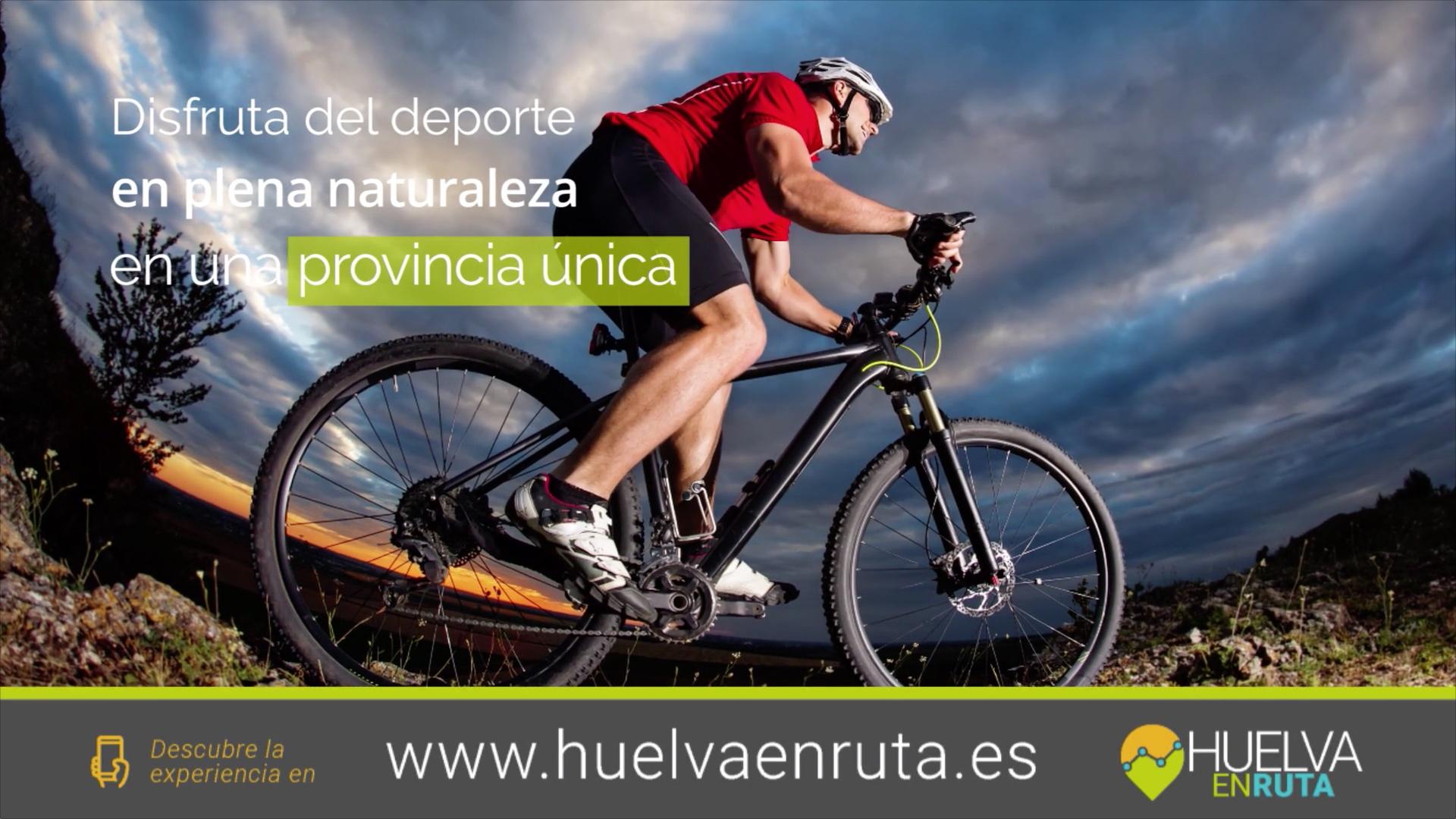 Campaña a nivel nacional para dar a conocer la app-web de cicloturismo 'Huelvaenruta'