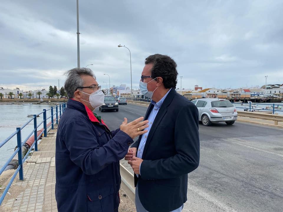 El PP destaca la obra de la Junta para mejorar el acceso a Isla Cristina