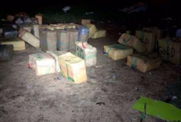 Cinco detenidos tras incautar en dos intervenciones 1.700 kilos de hachís