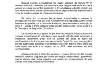 Villablanca 31 casos de Covip-19