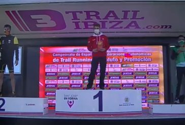 Hamza Aitmansour podio con Andalucía en el Nacional de Trail Running