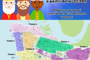 Recorrido de sus majestades los Reyes Magos de Oriente para el día 5 de Enero en Isla Cristina