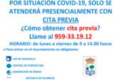 El Ayuntamiento de Isla Cristina anuncia que sólo atenderá presencialmente con cita previa