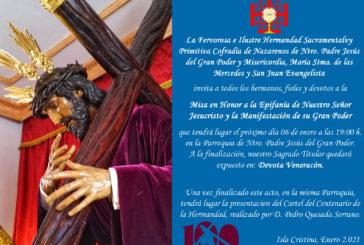 Misa Epifanía y Presentación del Cartel del Centenario de la Hdad. del Gran Poder de Isla Cristina