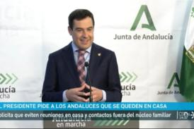 El Presidente JuanMa Moreno pide a los andaluces que nos quedemos en casa-