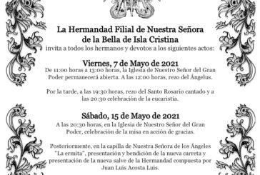 Actos de La Hermandad Filial de Nuestra Señora de la Bella de Isla Cristina