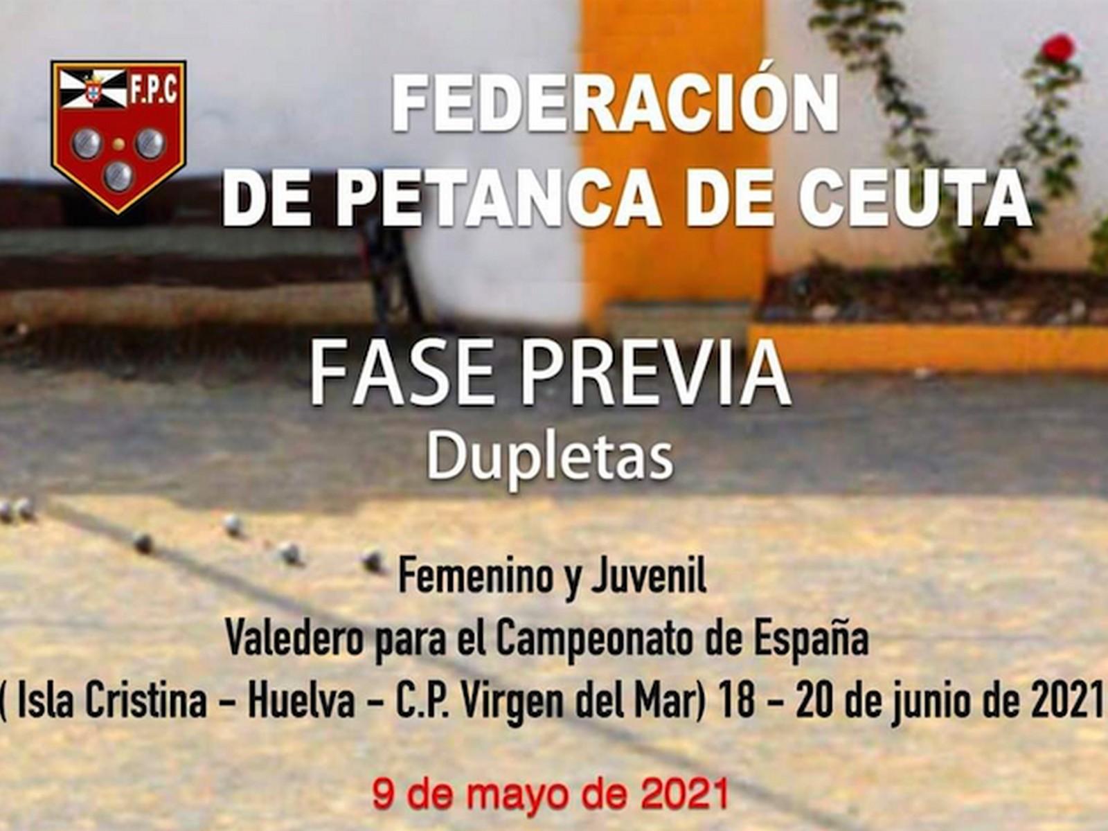 Isla Cristina acogerá el Campeonato de España de Dupletas en categorías femenina y juvenil