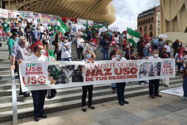 Sindicalistas isleños de USO apoyan protestas en Sevilla
