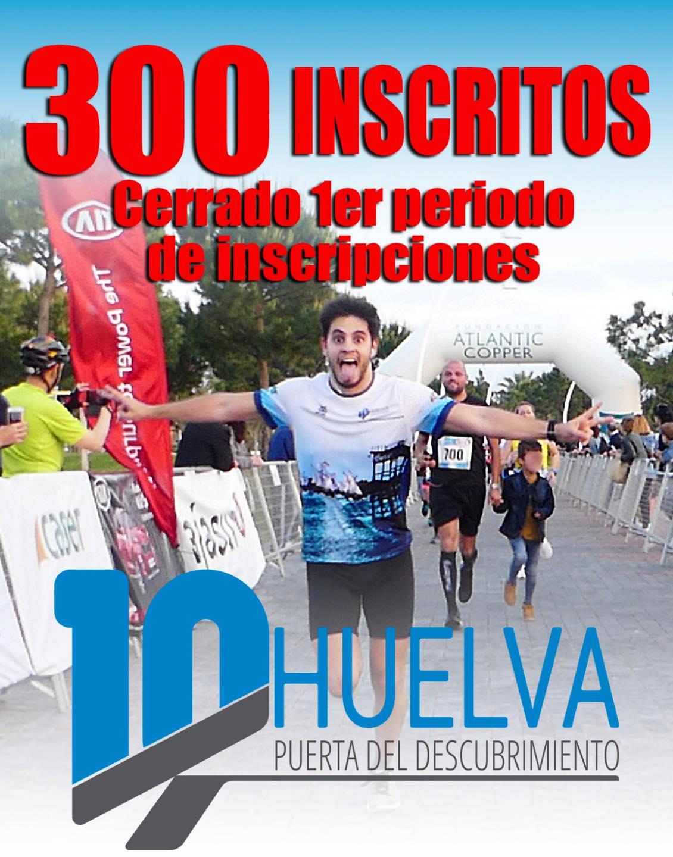 Agotadas en media hora las inscripciones de la popular carrera 10K Huelva 'Puerta del Descubrimiento'