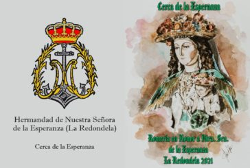Díptico de Actos y Cultos para la Romería de La Redondela 2021.
