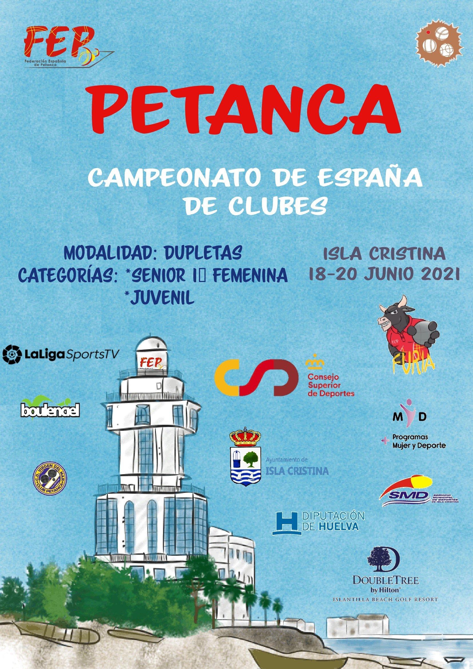Isla Cristina acoge el Campeonato de España de Petanca 1ª sénior femenina y juvenil