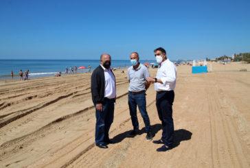 Finalización del perfilado de la playa de Islantilla