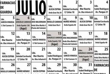 Farmacias de Guardia en Isla Cristina para el mes de Julio 2021