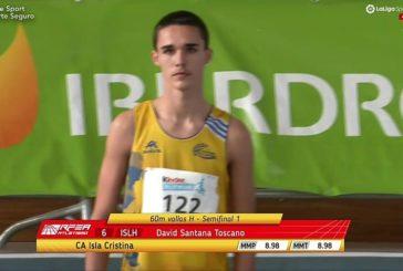 Récord de Huelva del atleta isleño David Santana Toscano en triple