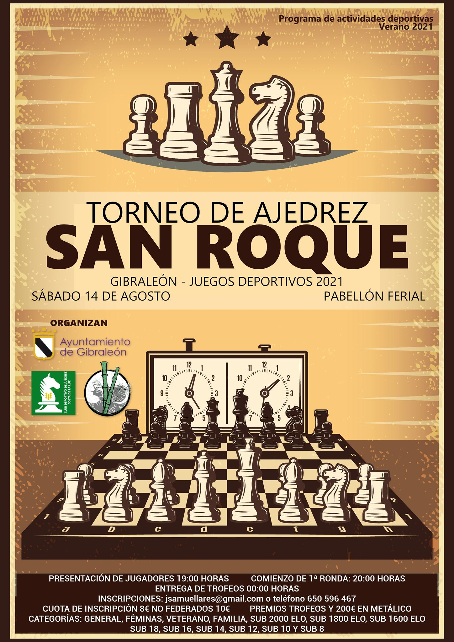 I Torneo de Ajedrez «San Roque Gibraleón»