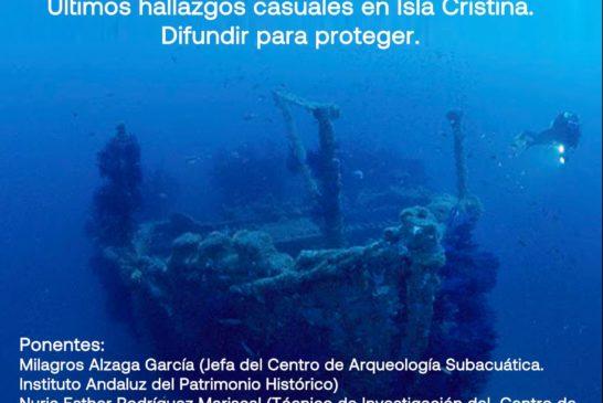 El Patrimonio Arqueológico Subacuático en los Martes Culturales de Isla Cristina
